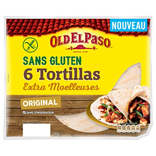 Old El Paso Tortillas Sans Gluten - 6 Lot de 6 tortillas (36 tortillas)