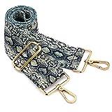 Wide Shoulder Strap Adjustable Replacement Belt Crossbody Canvas Bag Handbag (wide:1.97'(5CM) Snake pattern)