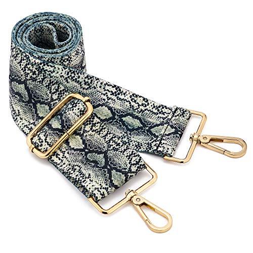 """Wide Shoulder Strap Adjustable Replacement Belt Crossbody Canvas Bag Handbag (wide:1.97""""(5CM) Snake pattern)"""