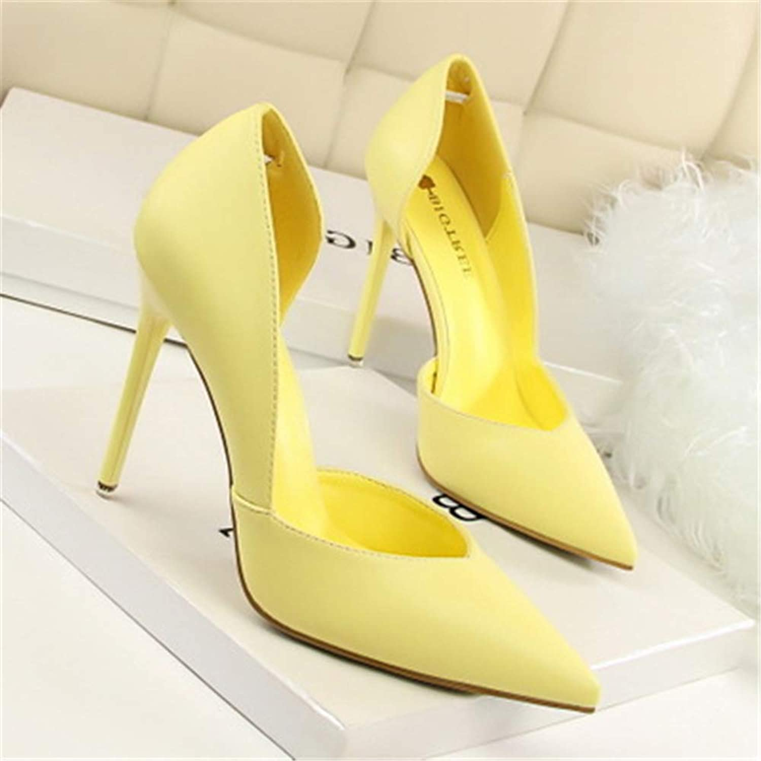 Linson123 Women's Fashion Pointed high Heels Sexy Non-Slip Dress shoes Wedding shoes