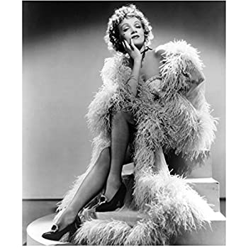 Marlene Dietrich with legs exposed looking lovely in Destry Rides Again Black and White 8 x 10 Inch Photo