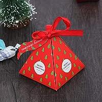 子供の誕生日の結婚式のためのギフト袋キャンディボックスを梱包10個入りのクリスマスは、箱の包装紙バッグイベントクリスマスパーティー用品を好みます (Color : 1)