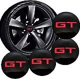 GWQNB 4 piezas Gt Tapacubos adhesivos decorativos para Kia K2, K3, K5, K9, Sorento Sportage R Alma de Rio