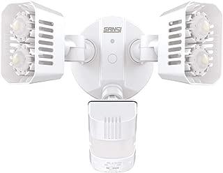 SANSI LED Dusk to Dawn Security Motion Sensor Light, 18W(150W Equiv.) Outdoor Waterproof Motion Activated Flood Light, 1800lm, 5000K Daylight, Motion Detection Lights, ETL Certified, White