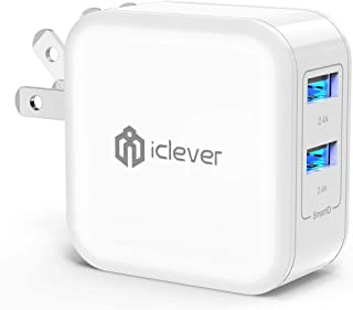 iclever USB充電器 2ポート 充電器 急速充電 4.8A 24W 折り畳み式プラグ iPhone/iPad/MacBook/Android 対応