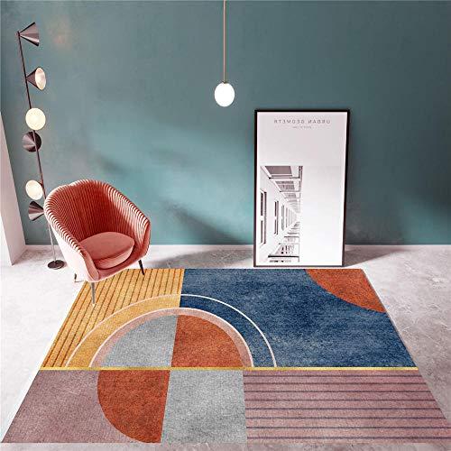 La alfombras Decoracion Mesa Salon Alfombra geométrica Azul Gris Amarillo Sala de Estar Antideslizante y Resistente a la decoloración Rugs for Living Room Alfombra habitacion Juvenil 200*300cm