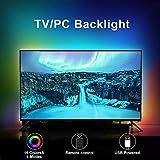 Retroilluminazione TV a LED, striscia luminosa RGB con telecomando, alimentazione USB per TV da 40 a...