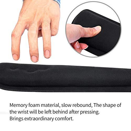 ICETEK Mauspad Gel Mousepad mit Handauflage Ergonomisches Mauspad Tastatur Handgelenkauflage Gelkissen