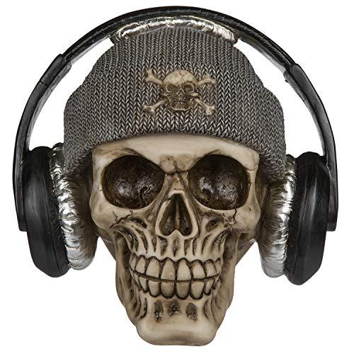 Spardose Sparbüchse Im Totenkopf-Design (Schädel mit Mütze und Kopfhörer)
