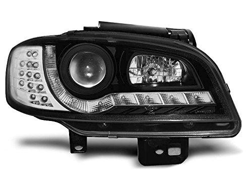 Koplampen Seat Ibiza/Cordoba 99-02 Daylight LED zwart (E22)