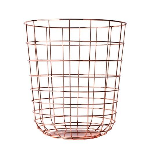 Menu 9000239 Draht-Papierkorb, Höhe 35 cm, Durchmesser 32 cm, Kupfer