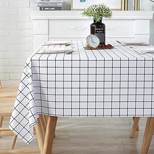 sans_marque Mantel, para mesa rectangular, mantel sólido, para decoración de mesa de cocina90*140cm