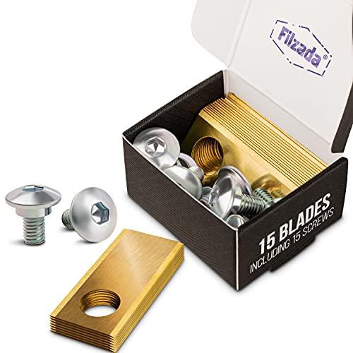 Filzada® 15x Titan Ersatzklingen geeignet für Honda Miimo Mähroboter - Ultrascharfe Messer inkl. 15 Schrauben - Rasenmäher Ersatzmesser kompatibel mit Honda Miimo Rasenroboter