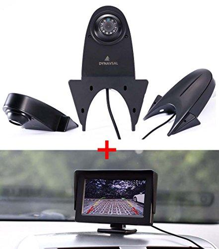 Rückfahrkamera Monitor + Rückfahrkamera Transporter, IR Nachtsicht Auto Kamera mit 4.3 Zoll LCD Farbdisplay wasserdichte,Rückfahrkamera für VW Crafter T5 Mercedes Sprinter Viano Vito Transit Ducato