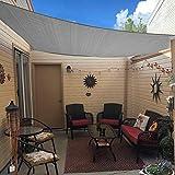 Artpuch Sun Shade Sail 7'x13' Rectangle Canopy Light Grey Cover for Patio...