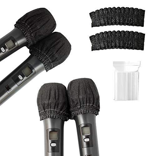 100 pz Monouso Microfono, Parabrezza Microfono, Non Tessuto Palmare Microfono Cappuccio Protettivo per Ktv News Karaoke Stage