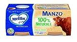 Mellin Omogeneizzato di Manzo 100% Naturale, 12 vasetti da 80 gr...