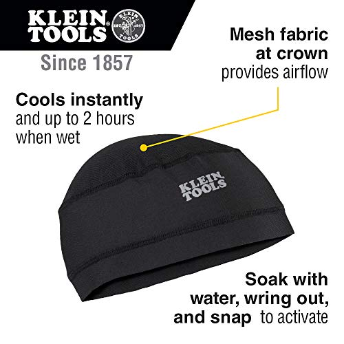 Klein Tools 60181 Cooling Helmet Liner, Under Hard Hat Cap with Mesh Fabric at Crown