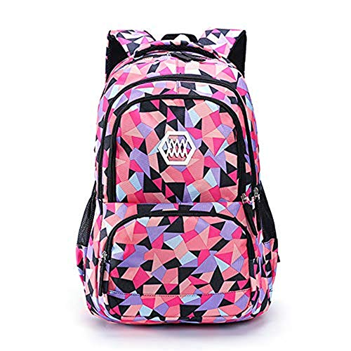 VIDOSCLA Geometric Prints Primary School Student Satchel Backpack Boys Book Bag School Bag for Students