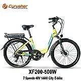 Cyrusher XF200 City Electric Bike 500W 48V 14Ah...