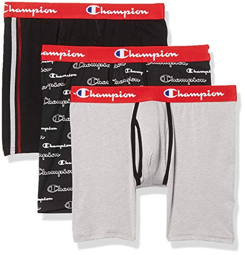 3-Pack Champion Men's Everyday Comfort Cotton Stretch Boxer Briefs  $9.60 at Amazon