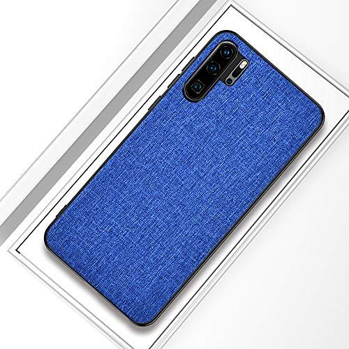Aidinar Custodia Huawei P30 PRO, Custodia Huawei P30 PRO Cellulare con Cover Posteriore in Tessuto Custodia Rigida in Silicone Rigida Resistente agli Urti,per Huawei P30 PRO(Blu)