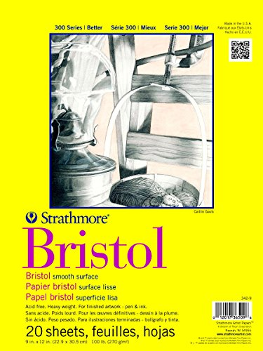 Pro-Art Strathmore Bristol Zeichenblock, glatt, 22,9 x 30,5 cm, 20 Blatt, Transparent, One Size