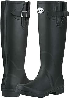 JOYCORN Women's Knee-high Rain Boots Waterproof Tall Rain Footware Adjustable Rubber Wellies Boots