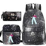 ZEH Harry Styles 3 piezas/set mochila bolsas de hombro bolsa de lápiz bolsas de escuela para niñas y niños portátil mochila de viaje mochila 18 solo mochila FACAI (color : 20, tamaño: bolso solo)