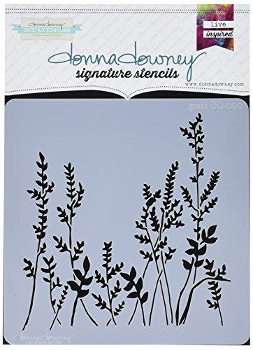 Donna Downey Stencils Signatur-Schablonen, aus Acryl, Motiv: Gras, 21,6x 21,6cm, Mehrfarbig