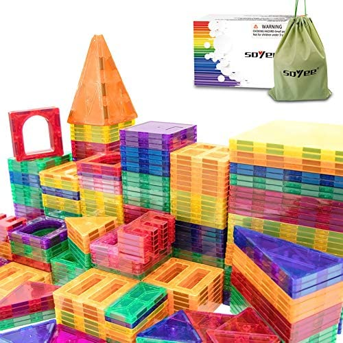 Compatible Magnetic Tiles Building Blocks STEM Toys for 3 Year Old Boys and Girls Learning by product image