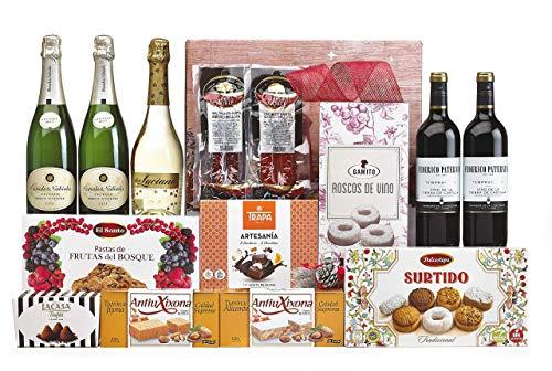 Lote Regalo Cesta de Navidad 2020 Gourmet · Regalo Personal o de Empresa · Agradecimiento Navideño. Incluye Opcionalmente Tarjeta Dedicada y Personalizada (Lote 03)