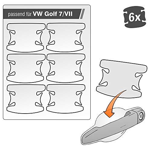 Lackschutzshop - transparente Lackschutzfolie 6er Set 100% passend für Modell Siehe Beschreibung, Autoschutzfolie, Schutzfolie gegen Kratzer in Griffmulden, Türgriffen und Griffschalen (V_G7)