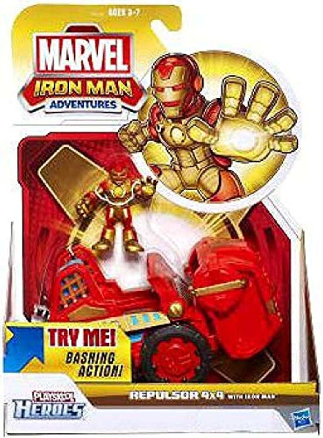 Marvel Playskool Heroes Iron Man Adventures Exclusive Playset Repulsor 4x4 [with Iron Man Figure] by Playskool