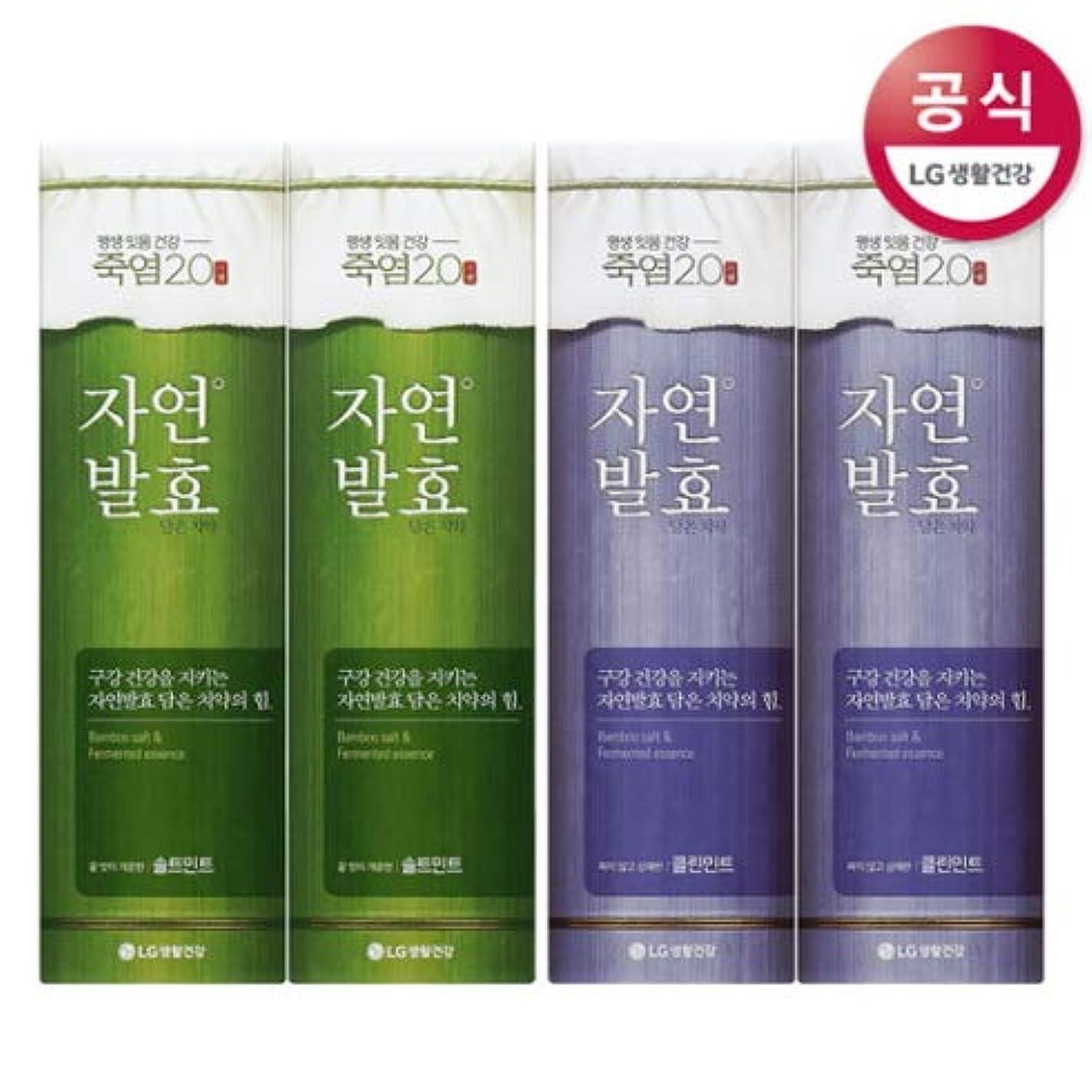 のヒープまだらジャニス[LG HnB] Bamboo salt natural fermentation toothpaste/竹塩自然発酵入れた歯磨き粉 100gx4個(海外直送品)