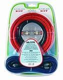 Phonocar 66/270 Kabel-Kit für Verstärker (Plus-Kabel + Minus-Kabel, 21 mm², Audiokabel) Mehrfarbig