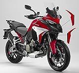 Vulturbike Pegatinas de colores para laterales - Ducati Multistrada V4 (rojo/negro)