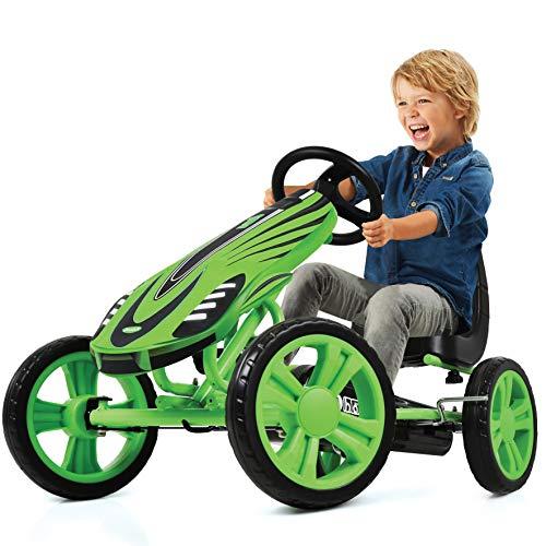Hauck Toys For Kids Kart a Pedales Speedster - Go Kart con Freno de Mano y Asiento Ajustable para niños a Partir de 4 años (Verde)