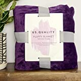US Quality Lightweight Super Soft & Cozy Fleece Blanket – Premium Throw for Beds, Travel, Home Decor and Pets – 40x60 Inches All Season Anti-Pill Blanket (Plum)