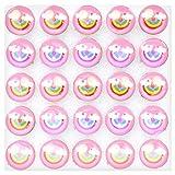 25 spille lucenti LED a forma di torta per Natale e Halloween, regalo per bambini (nuvola rosa)