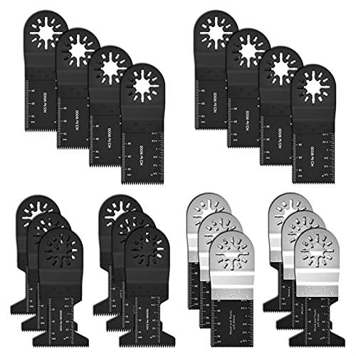 20 unids de acero altamente carbono Hoja de sierra de vibración Multifunción Multifunción Precisión Bi-Metal Oscilación Oscilating Sierra Multítimo Herramienta de corte MULTIMASTER by ROYAL STAR TY
