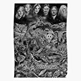 Poster mit Finnland Nightwish Animals, Band aus Metall,