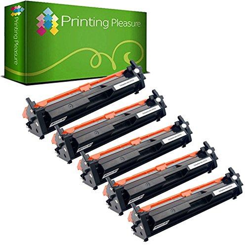 Printing Pleasure 2 Compatibles CF217A 17A [con Chip] Cartuchos de tóner para HP Laserjet Pro MFP M130nw M130fn M130fw M130a M102a M102w - Negro, Alta Capacidad (1.600 Páginas)