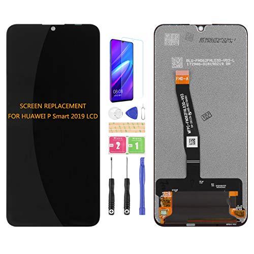 Kit de montaje de pantalla LCD de repuesto para Huawei P SMART 2019 Pot-LX1 POT-LX2J Pot-LX3 POT-LX1RUA POT-LX1AF pantalla LCD de repuesto Kit de montaje de cristal templado gratis