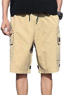 Fieer Men Regular Fit Oversized Shorts Multi Pockets Twill Jogger Pants