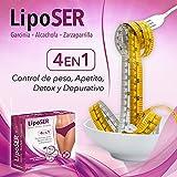 Liposer - 16 sticks - Elimina la grasa acumulada en Abdomen, Caderas. Piernas, Espalda y Brazos - Adelgazante 4 en 1 - Quemagrasas | Apetito | Detox | Depurativo - Resultados en 16 días - 1 al día