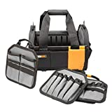 ToughBuilt - 12' Modular Tote Tool Bag   61 Pockets and Loops, Electrical/Maintenance Tool Carrier, Durable Padded Handle, 3 Removable Pocket Dividers, Storage Organizer/Tool Box (TB-81-12)