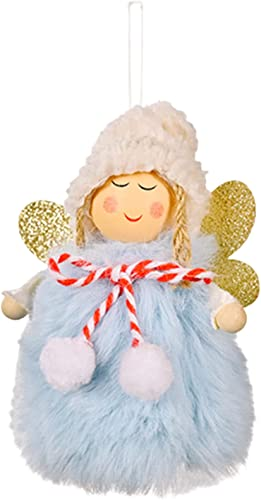 wholesale RiamxwR Christmas Angel high quality Doll Handmade Plush Angel 2021 Christmas Home Hanging Ornament Decoration (Blue) outlet sale