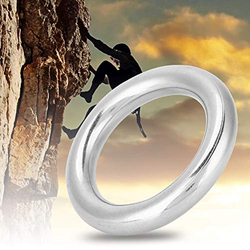 Alomejor 1Pc 12 * 50mm 304 Stainless Steel O-ring Welded Solid Ring O Round Ring Polished Circle for Boat Marine