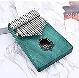 ZTJ Dedo Arpa Thumb Piano Dedo Thumb Piano Caoba 5 Teclas Eléctricas Thumb Piano Regalo Musical Mbira Acero Llavero Principiante Piano para Niños Adultos/Green1/18X13X2.5Cm